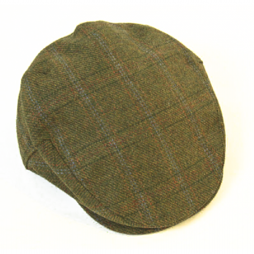 Handmade Irish Tweed Cap - Forest Green (H55)